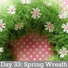 Spring Wreath.Day 33