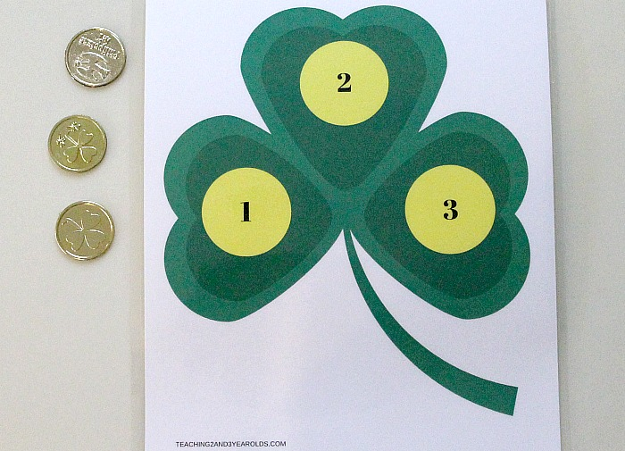 St. Patrick's Day Math Activity for Toddlers