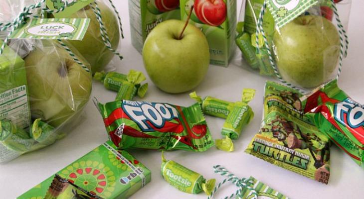 Leprechaun Classroom Visit Ideas ~ St patrick s day treat bags hoosier homemade
