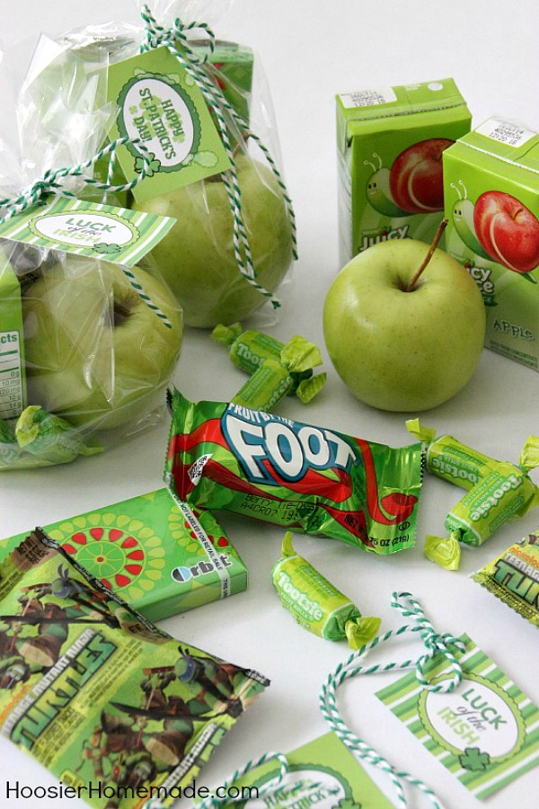 Treat Bags with green treats