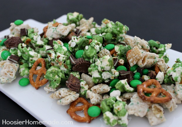Luck of the Irish Party Mix for St. Patrick's Day :: Recipe on HoosierHomemade.com