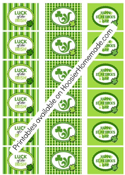 St. Patrick's Day Printable Tags | Available on HoosierHomemade.com