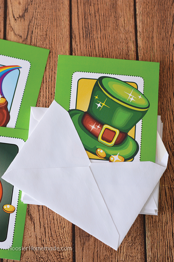 "Grab these FREE Printable St. Patrick's Day Cards and spread the fun! Be ""GREEN"" for a day! Perfect to add to a gift or drop in the mail!"