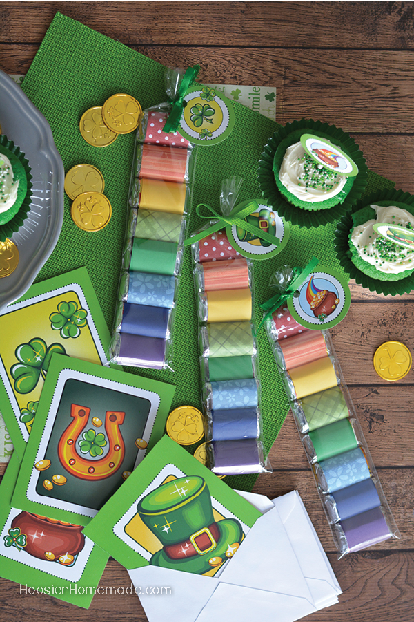 FREE St. Patrick's Day Printables - Cards, Cupcake Toppers and Tags - create treats, gifts or fun ideas for a classroom party!