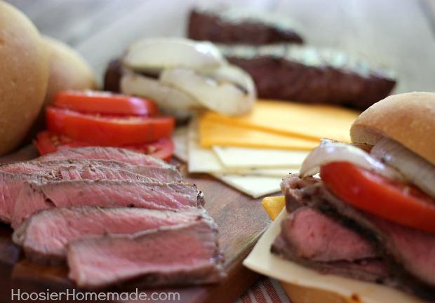 Grilled Steak Sandwich   Recipe on HoosierHomemade.com