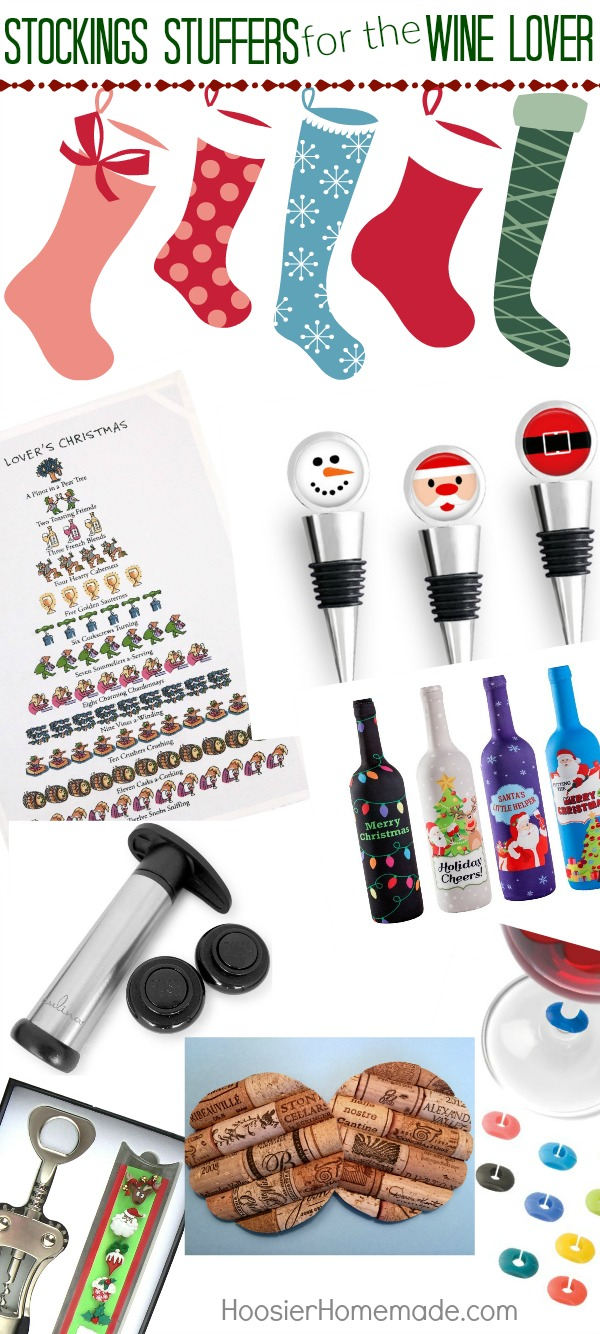 Do you have a wine lover in your life? Maybe you are one? Well look no further, because these Stockings Stuffers for the Wine Lover are SUPER cool and sure to be on every wine lovers list! Don't have a stocking to stuff? These Wine Lover Gifts are still perfect!