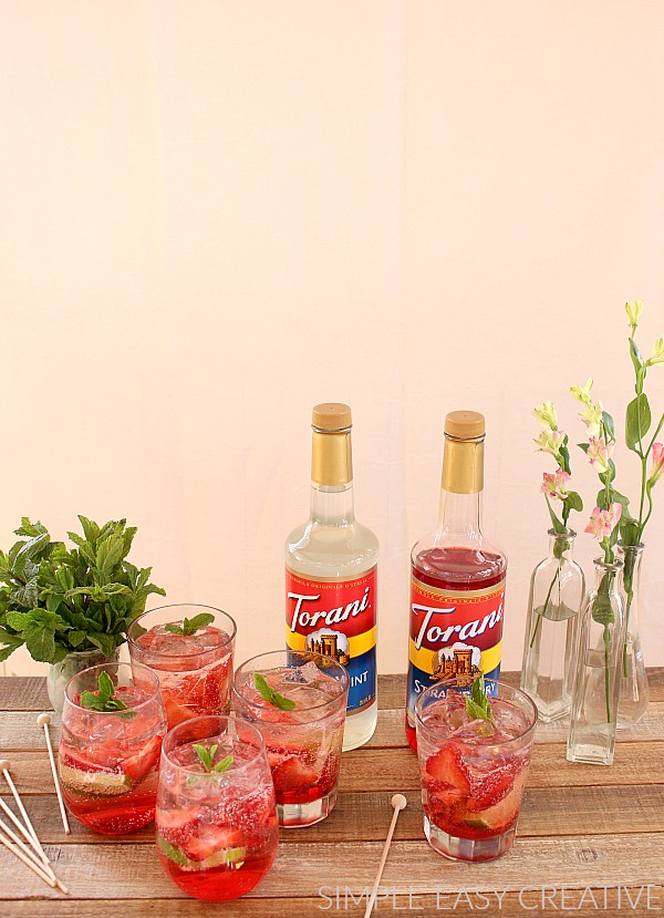 Strawberry Fizzy Mocktails