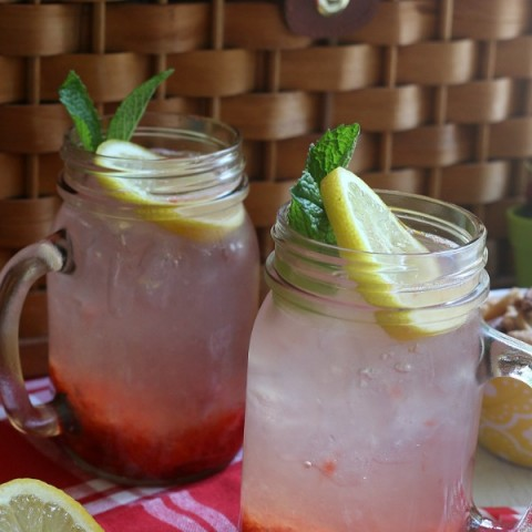 Enjoy this refreshing Strawberry Lemonade without the sugar! Made with fresh strawberries and lemons, it's the perfect Summertime drink!