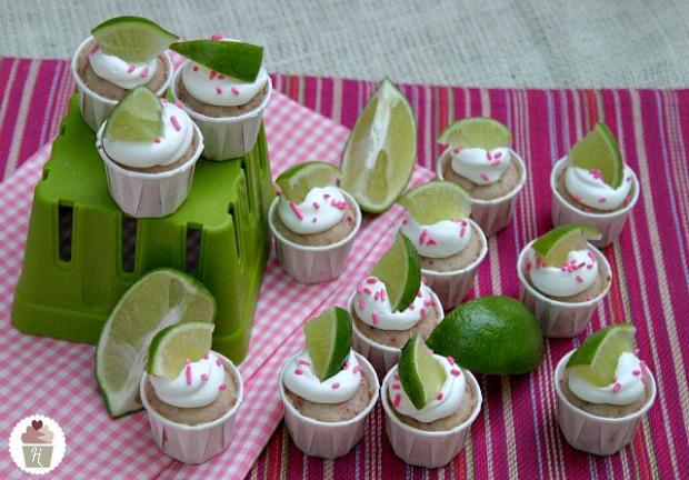 Strawberry Margarita Cupcakes   Recipe on HoosierHomemade.com
