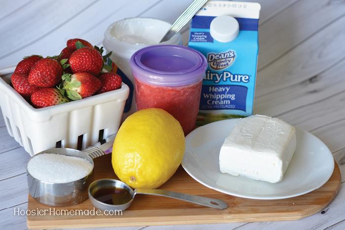 Strawberry Milkshake Ingredients.