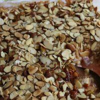 Strawberry Rhubarb Almond Crumble Dessert