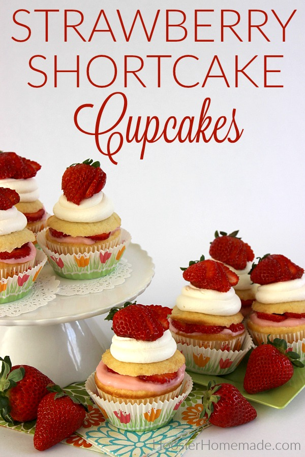 Cupcakes with Strawberries