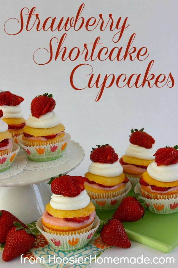 These Strawberry Shortcake Cupcakes begin with a rich French Vanilla cake mix, filled with JELL-O Strawberry Creme Pudding and topped with the new rich and creamy COOL WHIP Frosting. Be sure to save it by pinning to your Recipe Board!