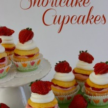 Strawberry Shortcake Cupcakes :: Recipe on HoosierHomemade.com