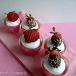 Strawberry Swirl Cupcakes - March 2011