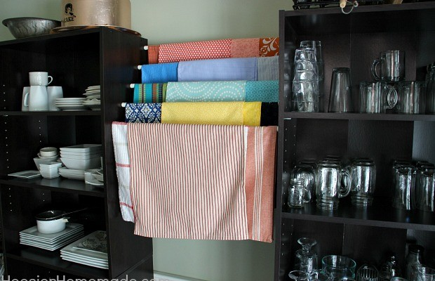 Simple Organizing for your Studio, Home Office and More   Details on HoosierHomemade.com