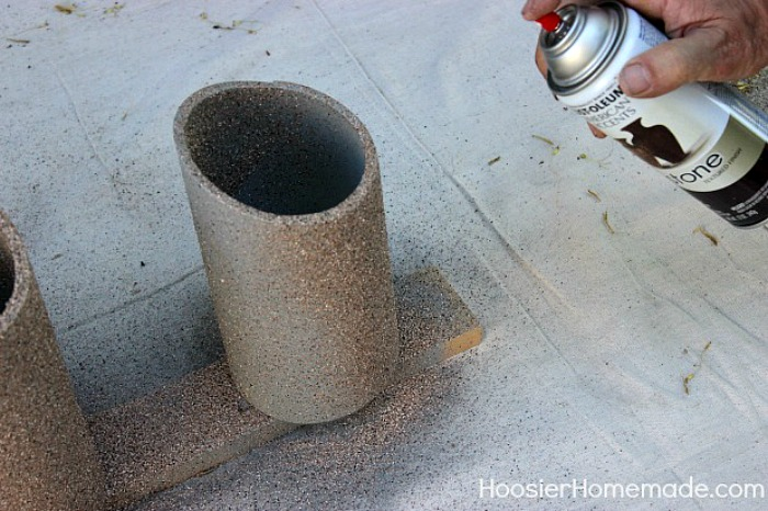 Spray paint pipe