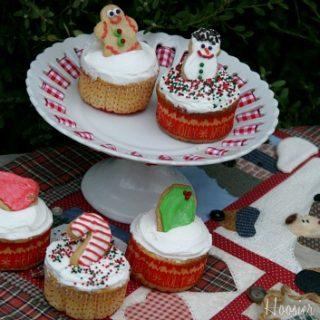 Christmas Sugar Cookie Cupcakes