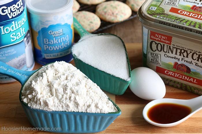 Sugar Cookie Recipe ingredients
