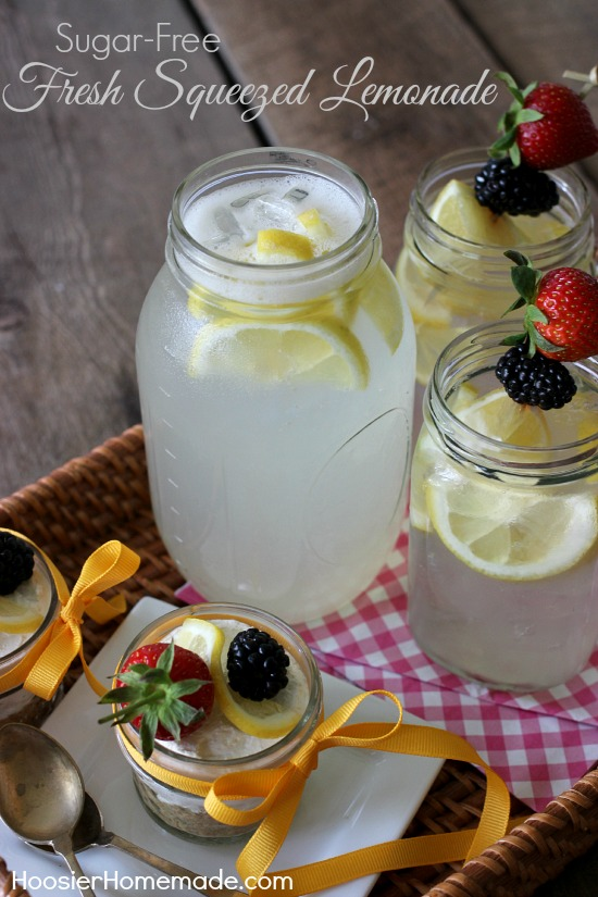Sugar-Free Fresh Squeezed Lemonade | Recipe on HoosierHomemade.com