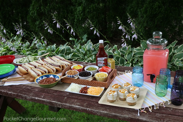 Summer Cookout table