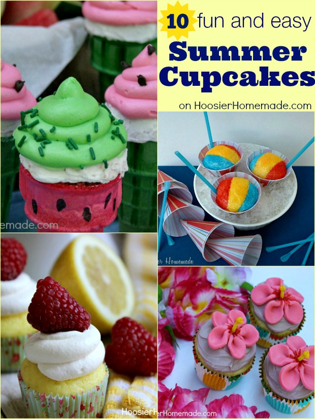Summer Cupcakes on HoosierHomemade.com