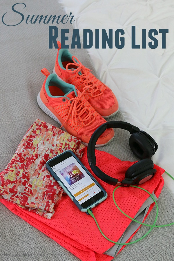 "Work on your Summer Reading List by using Audible - an easy way to get all the books ""read"" that you want!"