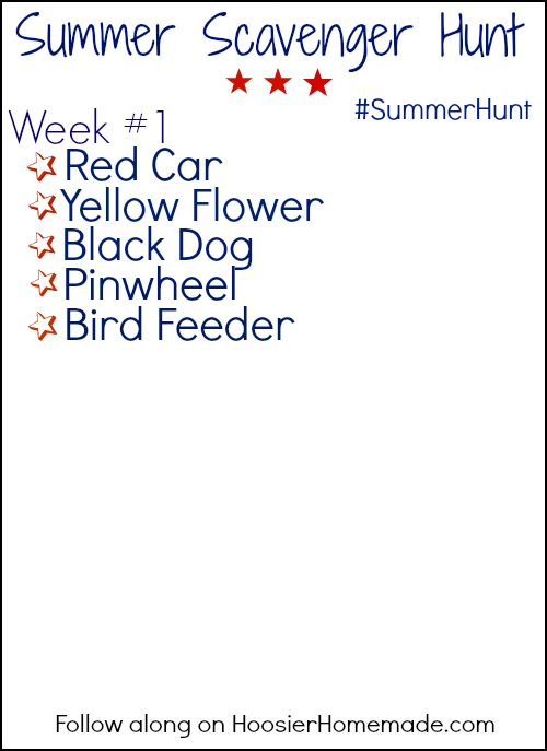 Summer Scavenger Hunt Printable.HH