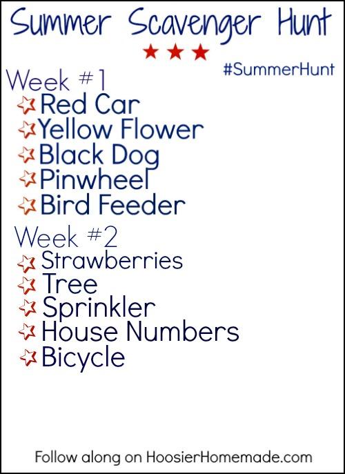 Summer Scavenger Hunt Printable.wk. 2