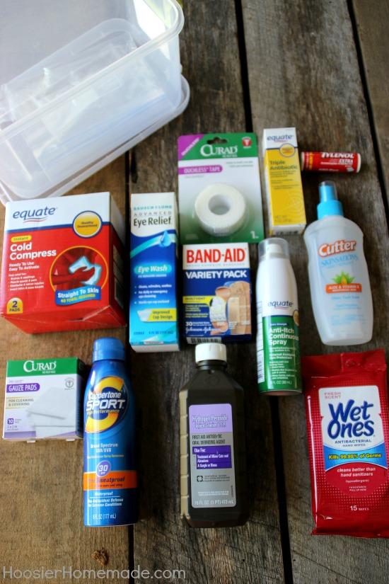 Summer Survival Kit | First Aid Kit | Details on HoosierHomemade.com