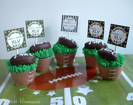 Super Bowl Cupcakes:Packers vs. Steelers