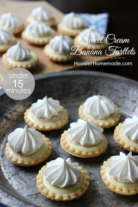 Sweet Cream Banana Tartlets | Quick and easy Dessert in under 15 minutes | Recipe on HoosierHomemade.com