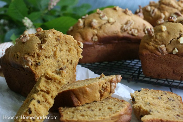 SWEET POTATO BREAD - You would never guess that this delicious, moist quick bread recipe has sweet potato in it! It's packed with healthy ingredients too! Perfect to serve at home, or give as gifts!