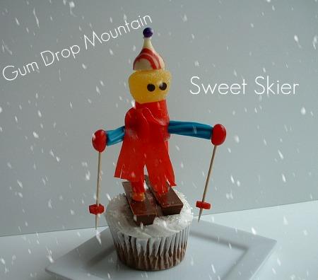 Sweet Skier Cupcake