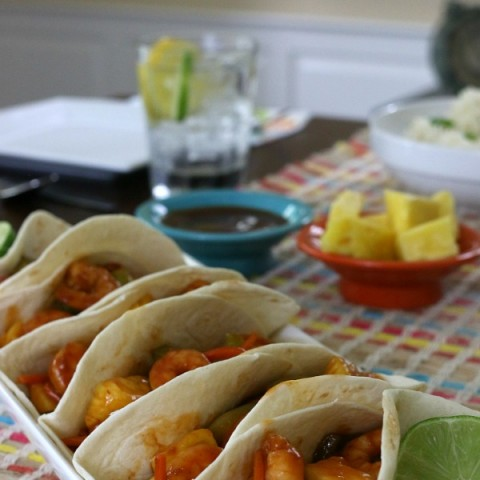 Sweet and Sour Shrimp Tacos
