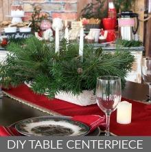 DIY Christmas Table Centerpiece