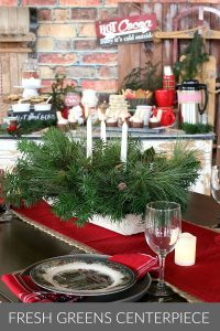 DIY Table Centerpiece for Christmas