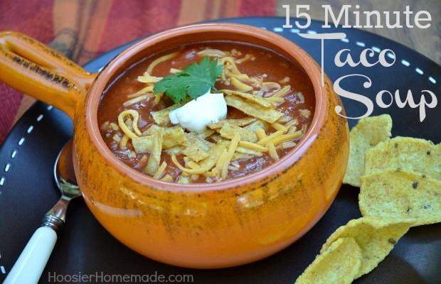 Taco Soup Recipe :: HoosierHomemade.com
