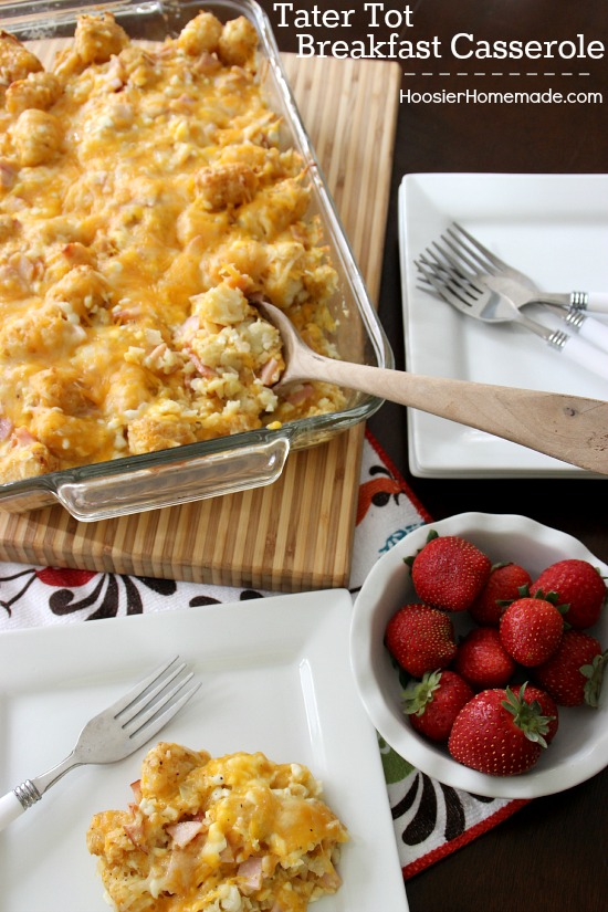 Tater Tot Breakfast Casserole- Perfect for Christmas morning!