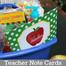 Teacher Note Card Printables