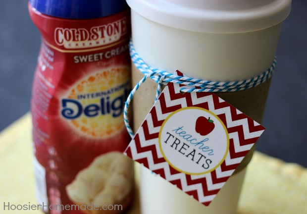 Teacher Treat with FREE Printable Tags available on HoosierHomemade.com