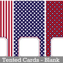 Tented Cards - Blank
