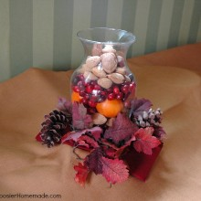 Thanksgiving Centerpiece :: HoosierHomemade.com