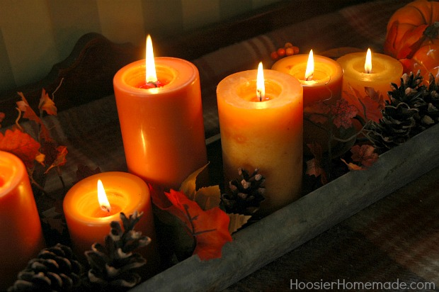 Thanksgiving countdown day table centerpieces