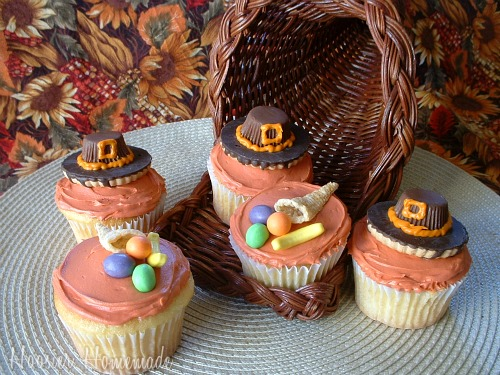 Thanksgiving Cupcakes for the Cupcake Challenge Hoosier Homemade