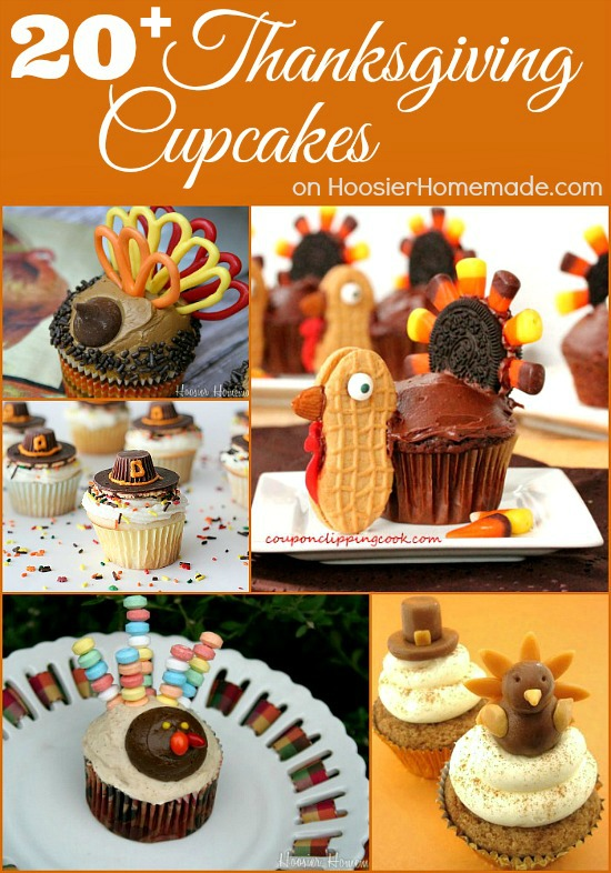 20+ Thanksgiving Cupcakes on HoosierHomemade.com