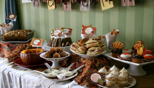 Thanksgiving leftover party food and decorating hoosier for Decoration ideas for thanksgiving dinner