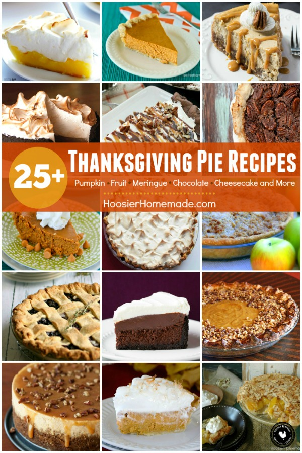 Thanksgiving Pie Recipes that will knock your socks off! Pumpkin - Fruit - Meringue - Chocolate and even Cheesecake! Delicious Thanksgiving Pies to serve your family and guests!