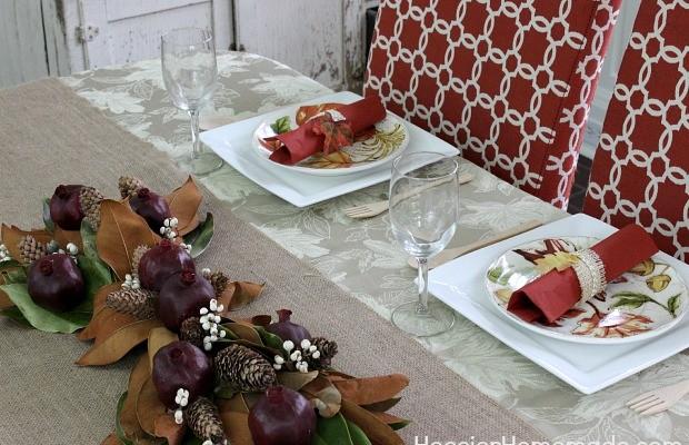 Thanksgiving Tablescape   HoosierHomemade.com