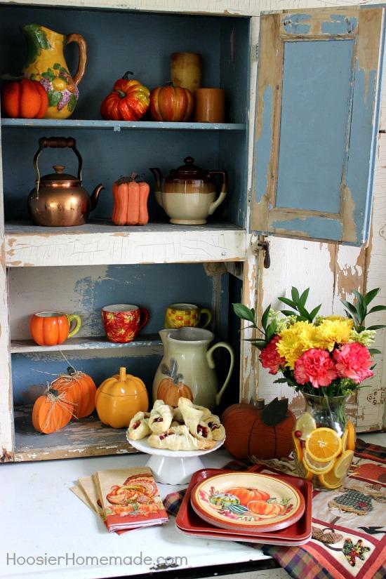 Dessert Bar on Hoosier Cabinet | HoosierHomemade.com